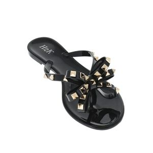 Black with Gold Stud Jelly Sandals size 5-10 NIB